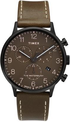 Timex Men's Waterbury Classic Leather Watch, 40mm