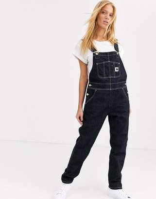 Carhartt Wip WIP straight leg dungarees with contrast stitching-Blue