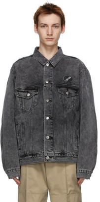 we11done Black Denim Oversized Jacket
