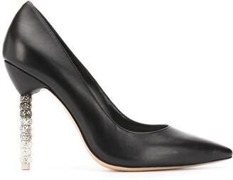 Sophia Webster Coco crystal-beaded heel pumps