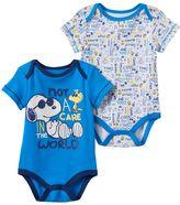 Baby Boy Peanuts Snoopy 2-pk. Graphic & Print Bodysuits