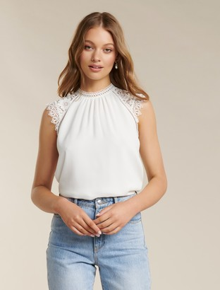 Ever New Lulu Lace Shoulder Top