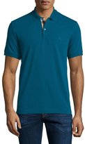 Burberry Short-Sleeve Pique Polo Shirt, Mineral Blue