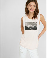 Express one eleven chamonix graphic muscle tank