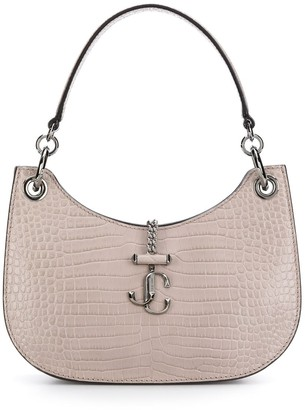 Jimmy Choo small Varenne crocodile-effect shoulder bag