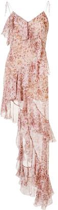 Raquel Diniz Stella floral-print silk dress