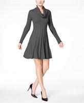 Calvin Klein Petite Cowl-Neck Sweater Dress