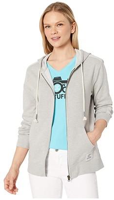 Life is Good Simply True Zip Hoodie (Light Gray Heather) Women's Sweatshirt