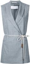 Fabiana Filippi double-breasted sleeveless blazer - women - Acetate/Viscose/Merino - 48