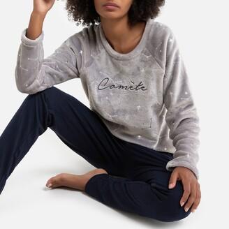 Dodo Petite Comete Soft Pyjamas in Fleece/Jersey with Celestial Slogan