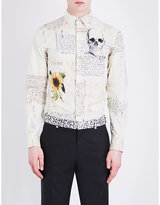 Alexander Mcqueen Sunflower And Skull-print Regular-fit Cotton Shirt