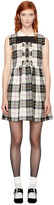 Miu Miu Off-white Tartan Fringe Dress