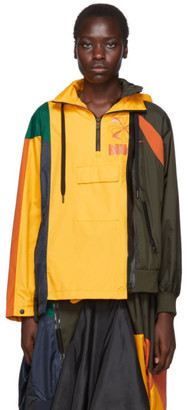 Nike Yellow and Multicolor Sacai Edition NRG Ni-01 Hooded Anorak