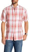 Tommy Bahama Plaid-O-Matic Short Sleeve Linen Print Shirt