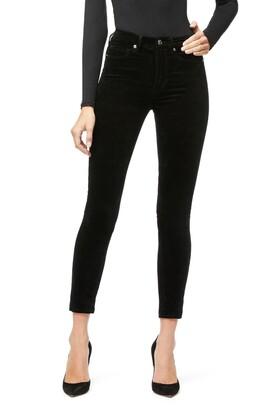 Good American Good Legs Crop Velvet Jeans