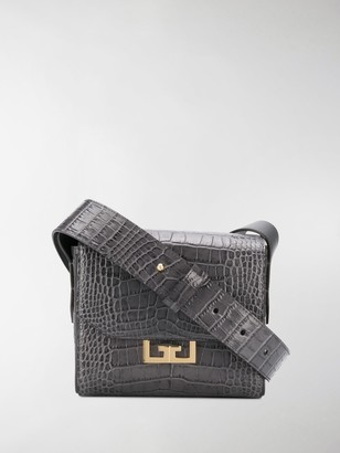 Givenchy Crocodile-Effect Shoulder Bag