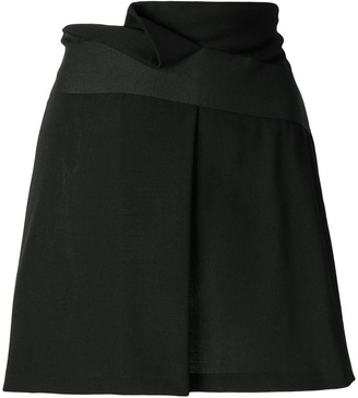 Giorgio Armani Pre-Owned Folded Front Short Skirt