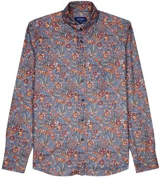 Eton Slim floral-print cotton shirt