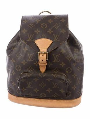Louis Vuitton Vintage Monogram Montsouris PM Backpack Brown