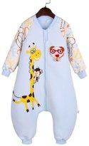 Aivtalk Autumn Sleep Bag Baby Boys Girls Cotton Windproof Lovely Blue Bear Sleep Sack Gown Wearable Blanket Snowsuit