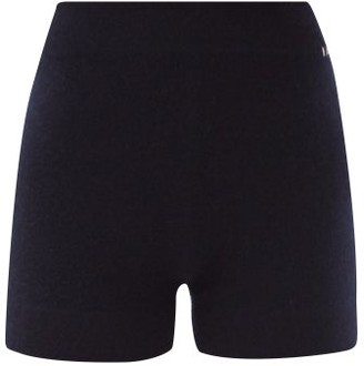 Extreme Cashmere Very Elasticated-waist Cashmere Shorts - Navy