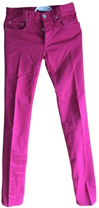 Christian Dior Pink Cotton Jeans