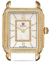 Michele Deco II Gold Diamond Dial Watch Head, 26mm x 27.5mm
