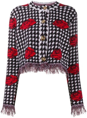 Versace Knitted Rose Jacket
