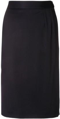Yves Saint Laurent Pre Owned 1980's Fitted Short Skirt