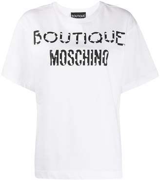 Moschino cartoon logo-print T-shirt