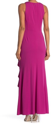 Ignite Embellished Ruched Waist Sleeveless Gown