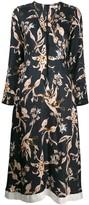 Schumacher Dorothee v-neck floral dress