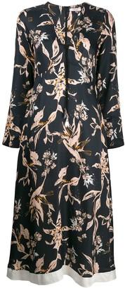 Dorothee Schumacher V-Neck Floral Dress