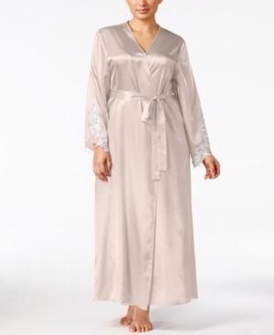 Flora Nikrooz Flora by Plus Size Satin Stella Robe