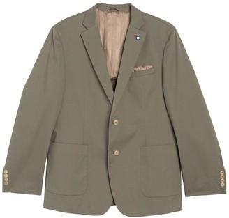 Ben Sherman Olive Solid Two Button Notch Lapel Union Fit Sport Coat