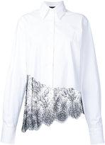 Filles a papa lace detail shirt - women - Cotton/Spandex/Elastane - 1