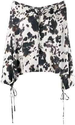 ALEXACHUNG Alexa Chung cow print blouse