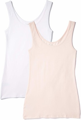 Iris & Lilly Women's Cotton Tank Top Pack of 2