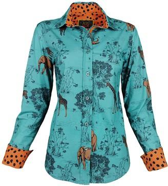 Lalipop Design Lycra Cotton Printed Shirt Safari