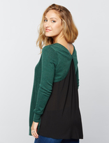 A Pea in the Pod Knit Woven Maternity Sweater
