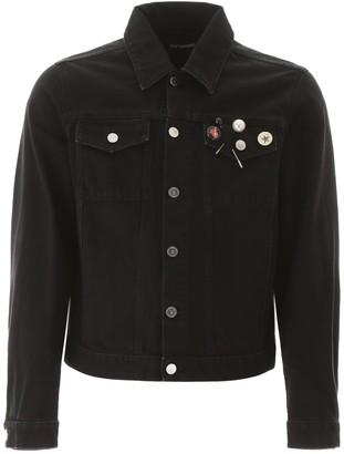 Raf Simons Pin Detail Denim Jacket