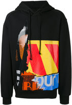 Juun.J multi-print hoody - men - Cotton - 44