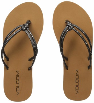 Volcom Women's Girls' Forever and Ever Youth Sandal Flip Flop
