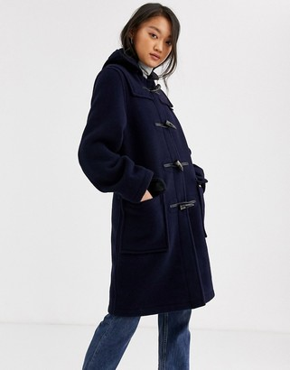 Gloverall Gloveral Original Duffle mid length duffle coat in wool blend