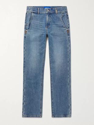 Ader Error Distressed Denim Jeans - Men - Blue