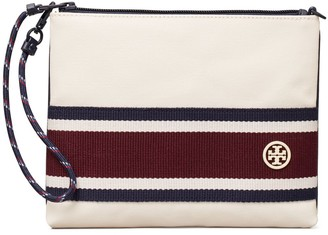 Tory Burch Canvas Stripe Wristlet