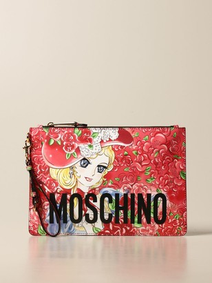 Moschino Shoulder Bag Leather Bag With Anime Print