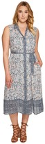 Lucky Brand Plus Size Printed Emily Dress Women's Sweater