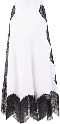 Givenchy Lace Inserts A-Line Skirt