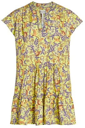 Saloni Ashley Monkey Poplin Mini Dress